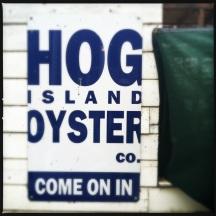 Hog Island Oyster sign